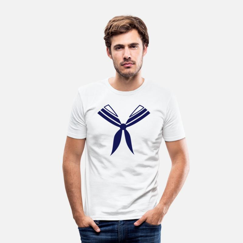 Matroos T-Shirts - matroos - Mannen slim fit T-shirt wit