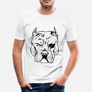 Aggressiv Aggressive Pitbull - Slim fit T-shirt mænd
