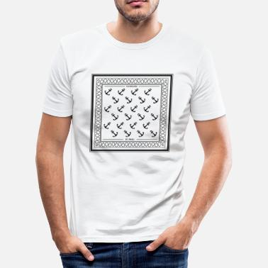 Hindi Bandana St. Pauli Hamburg Anchor - Herre Slim Fit T-Shirt
