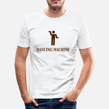 dancing_machine - Slim Fit T-skjorte for menn