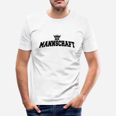 Mannschaft die mannschaft with crown - slim fit T-shirt