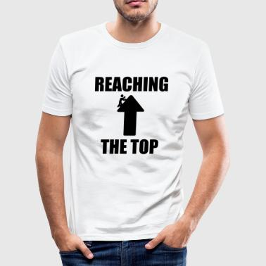 Motivatie Klimmen naar de finish! - slim fit T-shirt