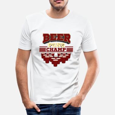 Champion Witzig Beerpong Champion - Männer Slim Fit T-Shirt