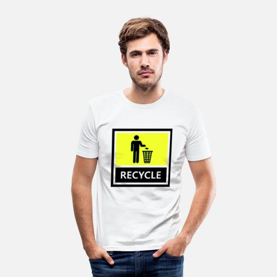 Sustainable T-Shirts - Recycle - Men's Slim Fit T-Shirt white