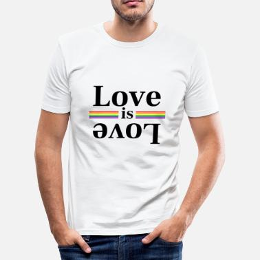 Rainbow Stripes Love is Love Rainbow Stripes - Men's Slim Fit T-Shirt