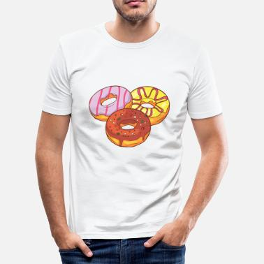 Confiserie Donuts Confiserie Cookie Tart Cake Pies - Men's Slim Fit T-Shirt