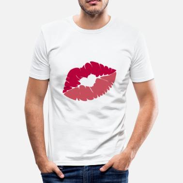 Rote Lippen Liebe Rote Lippen - Männer Slim Fit T-Shirt