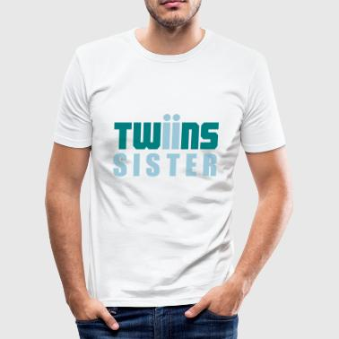 Twin Sisters twins sister twins - Men's Slim Fit T-Shirt
