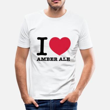 Amber i love amber ale - Men's Slim Fit T-Shirt