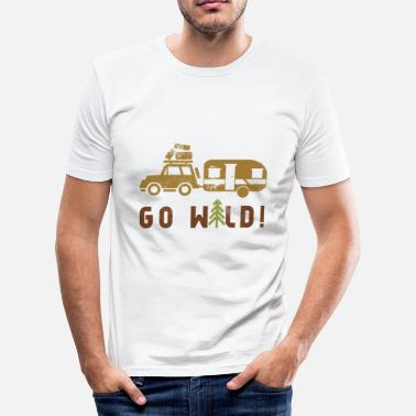 Hiking Go Camping Go Wild - Männer Slim Fit T-Shirt