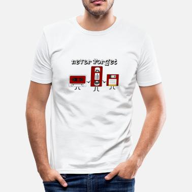 Cassette Never Forget the Old School - Premium Design - slim fit T-shirt