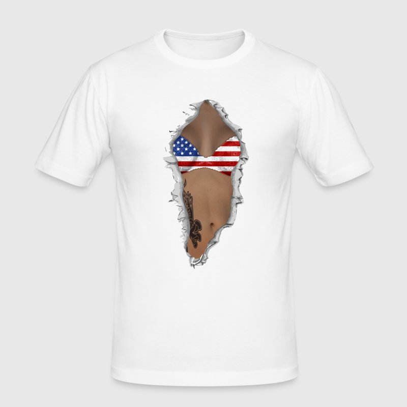 sexy flag USA - Herre Slim Fit T-Shirt