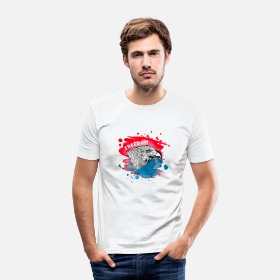 National T-shirts - Journée nationale de la liberté en Amérique - T-shirt moulant Homme blanc