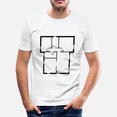 Furniture  apartment_ floor_ plan _p1 - Men's Slim Fit T-Shirt