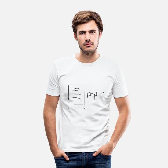 Paper T-Shirts - paper - Men's Slim Fit T-Shirt white