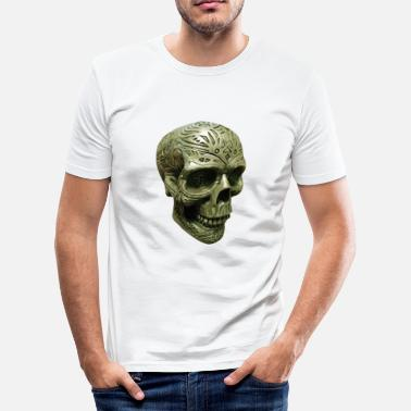 Engraving Mystic death's head engraved - Men's Slim Fit T-Shirt