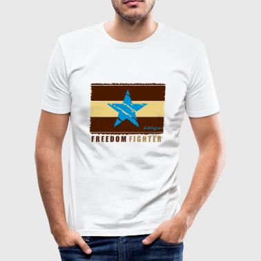 freedom fighter_vec_2  fr - T-shirt près du corps Homme