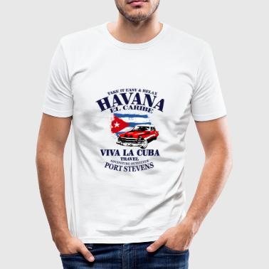Havanna Havana - Cuba Flag - Männer Slim Fit T-Shirt