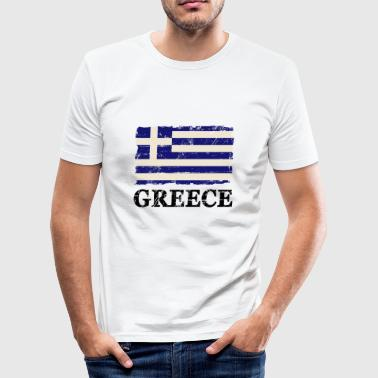 Greece Flag - Griechenland Flagge  - Männer Slim Fit T-Shirt