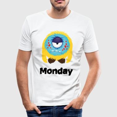 mandag Monster - Herre Slim Fit T-Shirt
