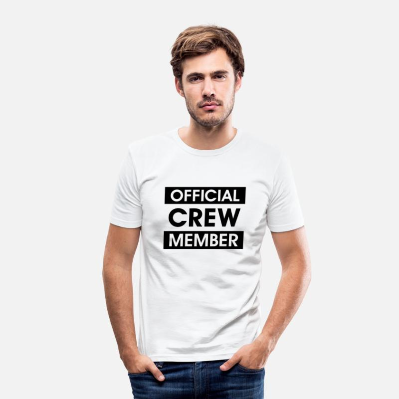 Club T-Shirts - Official Crew Member Officiële Crew Member. Team - Mannen slim fit T-shirt wit