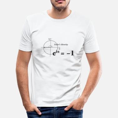 Mathe Formel Euler Formel Mathe dark - Männer Slim Fit T-Shirt