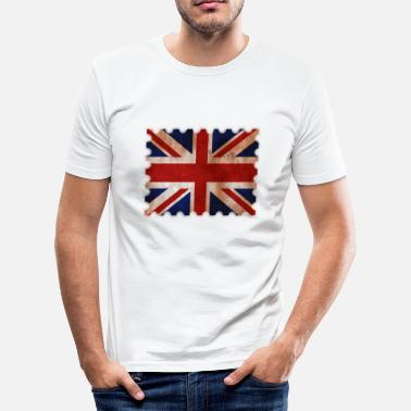 Northern Ireland United Kingdom postage stamp in retro design gift - Men's Slim Fit T-Shirt