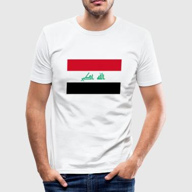 Nationalflagge von Irak - Männer Slim Fit T-Shirt