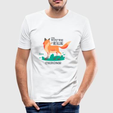 Fuchs-Chrome,Firefox  Netz Browser Internet www - Männer Slim Fit T-Shirt