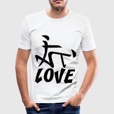 Sex Grandpa Chinese characters sex position gift - Men's Slim Fit T-Shirt