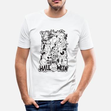 Halloween Happy Halloween | Cool Illustration Design - Slim fit T-shirt mænd