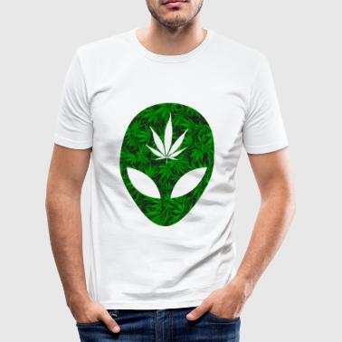Alien Weed Weed Alien - Men's Slim Fit T-Shirt
