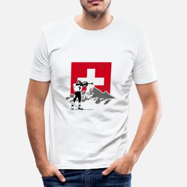 Biathlon Biathlon - Swiss Flag - Männer Slim Fit T-Shirt