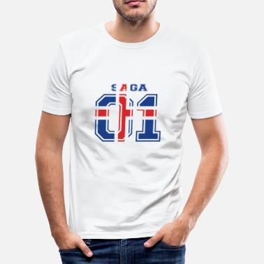 Saga home roots name iceland iceland SAGA - Men's Slim Fit T-Shirt
