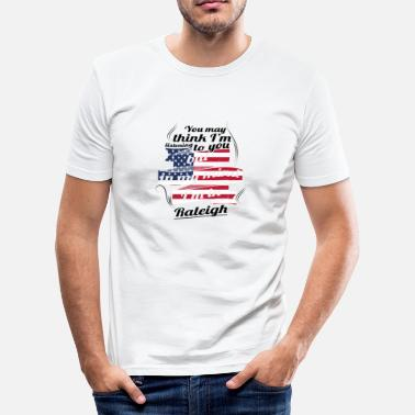 Raleigh TERAPI HOLIDAY TRAVEL AMERICA USA Raleigh - Herre Slim Fit T-Shirt