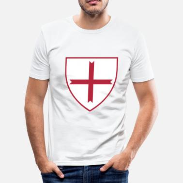 Knights Templar Cross knights templar cross - Men's Slim Fit T-Shirt
