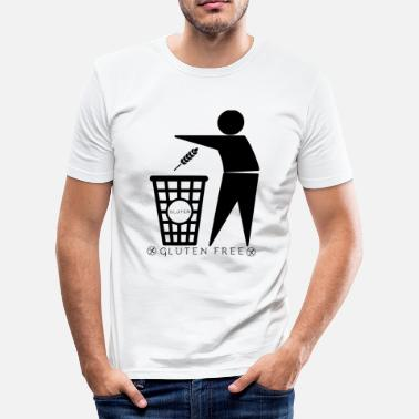 Zöliakie Glutenbeholder (sort) - Herre Slim Fit T-Shirt