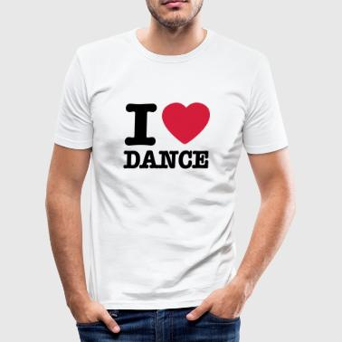 I love dance / I heart dance - Slim Fit T-skjorte for menn
