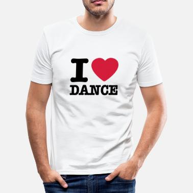I Love Dance I love dance / I heart dance - Slim Fit T-shirt herr
