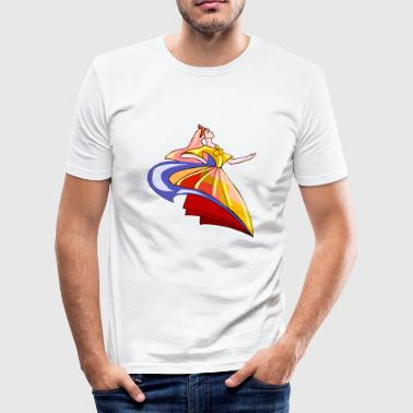 Dancer Comic Abstract dancer in comic style - Men's Slim Fit T-Shirt