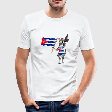 Cuban zebra - Men's Slim Fit T-Shirt