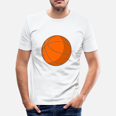 Sluttspillet basketballspiller, spiller sport16 - Slim Fit T-skjorte for menn