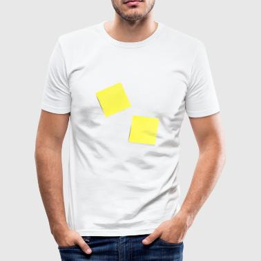 yellow sticky note, sticky note, sticky note - Men's Slim Fit T-Shirt