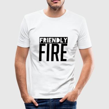 Friendly Fire - Gaming Gamer - Men's Slim Fit T-Shirt