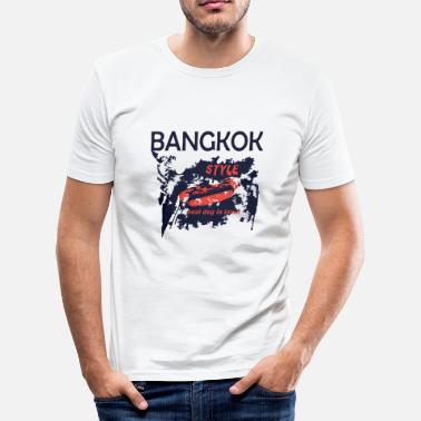 Khao San Bangkok style best dog in town capital Thailand - Men's Slim Fit T-Shirt