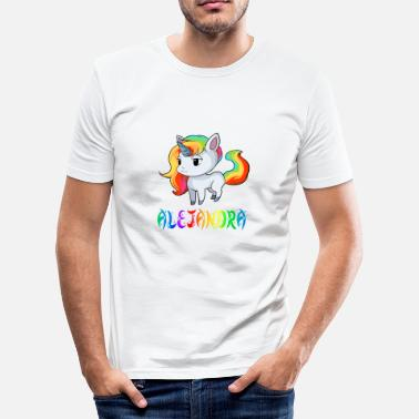 Alejandra Unicorn Alejandra - Men's Slim Fit T-Shirt