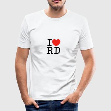 I love Rendsburg - Männer Slim Fit T-Shirt