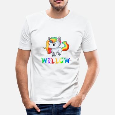Willow Unicorn Willow - Men's Slim Fit T-Shirt