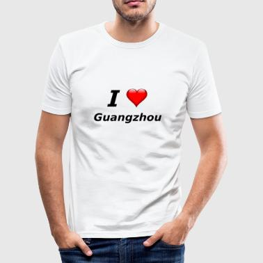 I love Guangzhou - Männer Slim Fit T-Shirt