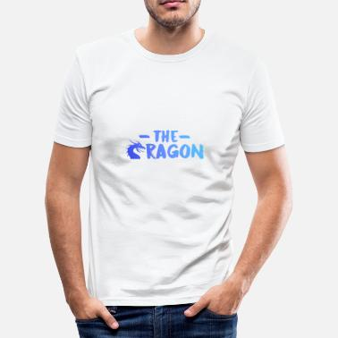 Blue Collar Dragon [Blue] - Herre Slim Fit T-Shirt